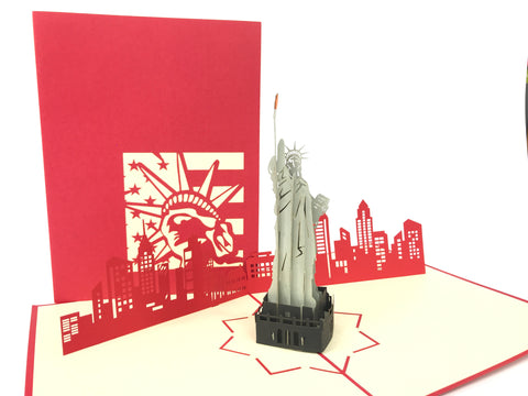 Statue Of Liberty NYC Pop Up Card
