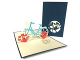 Bicycle With Tulips Pop Up Card