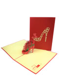 Floral High Heel Pop Up Card