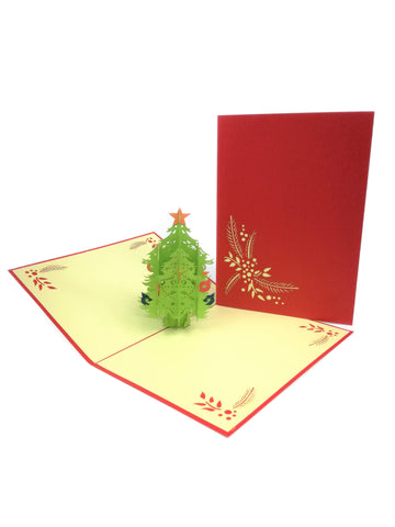 Christmas Tree Mistletoe Pop Up Card