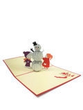 Snowman And Kids Pop Up Card