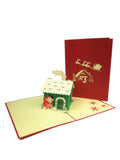 North Pole Santa's House Pop Up Card