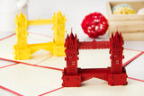 tower bridge 3d popup london monument card