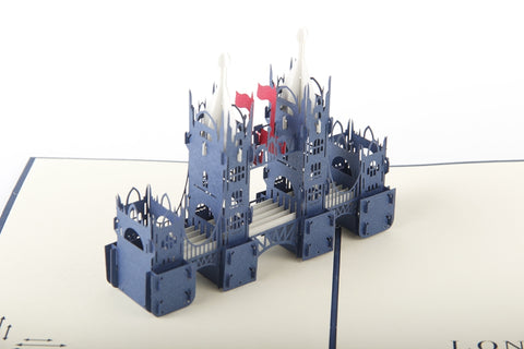 unique tower bridge 3d london monument popup card