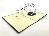 music notes flying around 3d popup music gift card