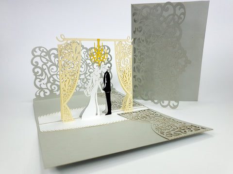 Blank Wedding Invites Pop Up Card
