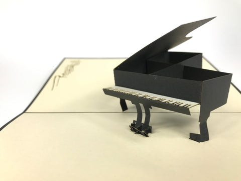 Black Piano Pop Up Card