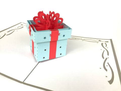 Big Present Box Pop Up Card