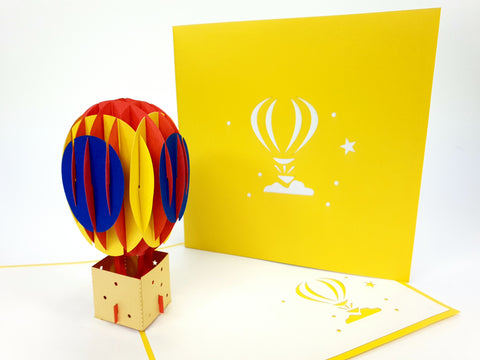 Yellow Ballon Pop Up Card