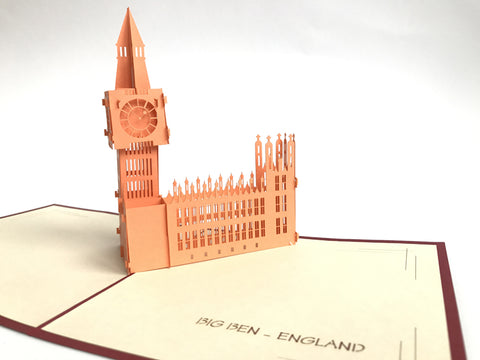 red popup card big ben english monument
