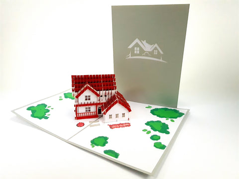 Huge New House Pop Up Card 3d
