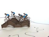 cycling team 3d popup cyclist sport gift card