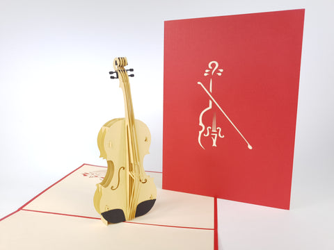 Violin Pop Up Card