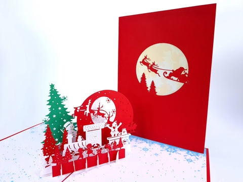 Christmas Village Pop Up Card
