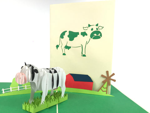Cow Pop Up Card