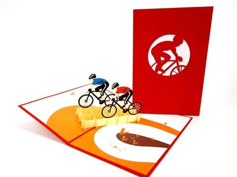 Color Cycling Team Pop Up Card