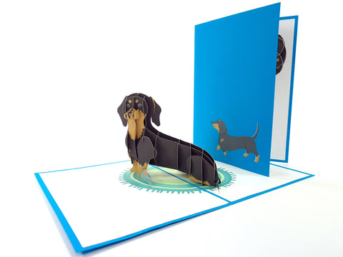 Dachshund Dog Pop Up Card