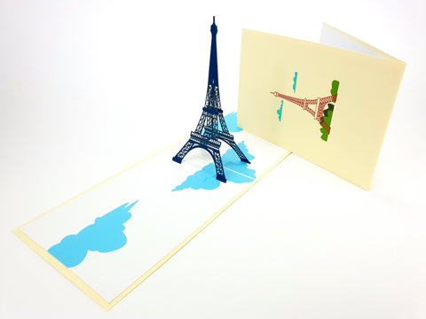Color Eiffel Tower Pop Up Card