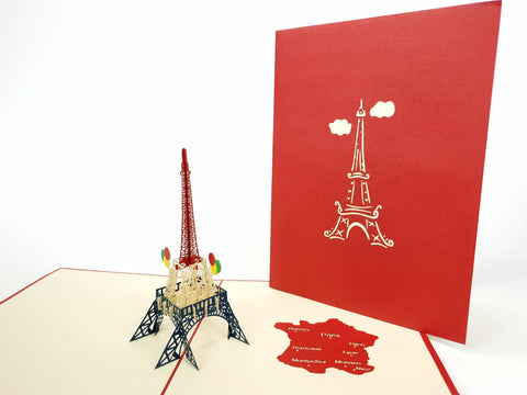 Eiffel Tower Pop Up Card Paris