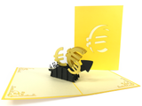 Euro Currency EUR Pop Up Card