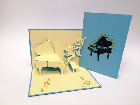 Birthday Piano Pop Up Card
