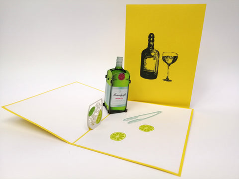 Gin Tonic Tanqueray Pop Up Card