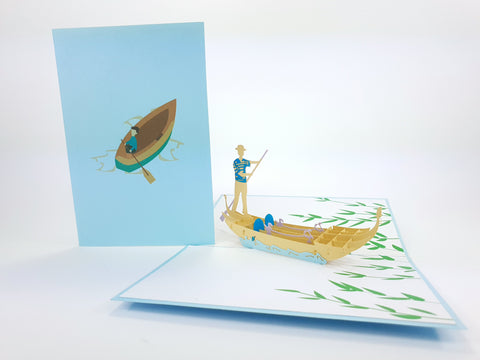 Color Venice Gondole Pop Up Card