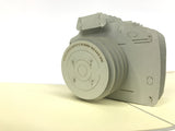 grey camera popup card photography