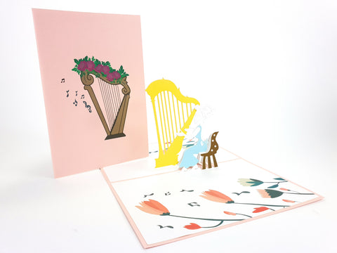 Color Harp Pop Up Card