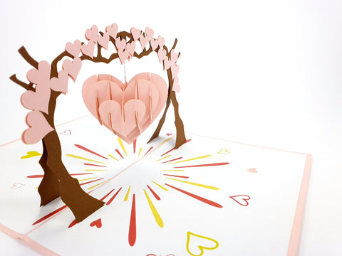 Color Heart Swing On The Arch Pop Up Card