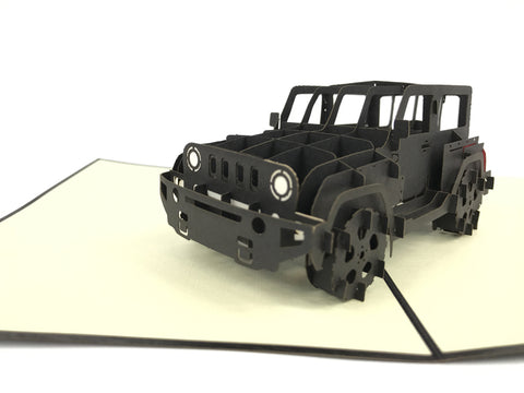 black jeep 3d popup car gift card