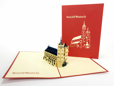 Kośćiół Mariacki Kraków Pop Up Card