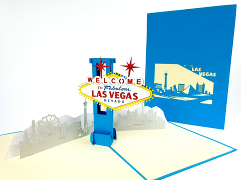 Las Vegas Pop Up Card