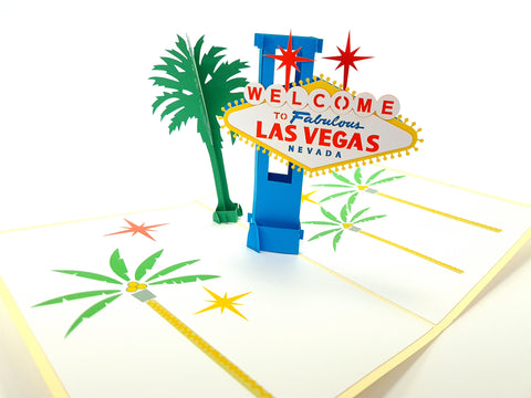 Color Las Vegas Pop Up Card