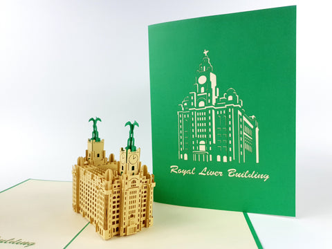 Liverpool Liver Building Pop Up Card