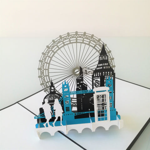 London City Pop Up Card