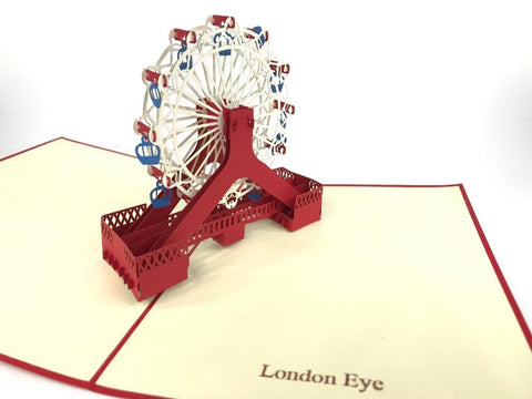 london eye 3d pop up monument card