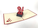 love sign on a box 3d pop up card