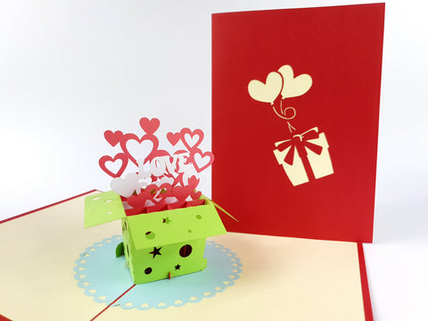 Love Box Pop Up Card