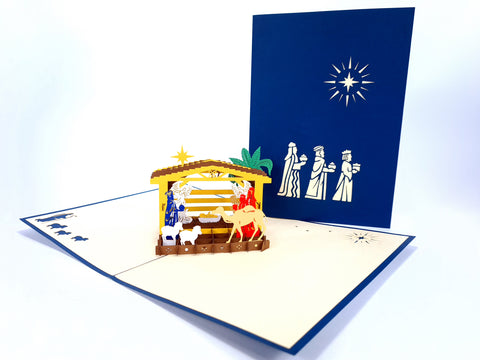 The Birth Of Christ Pop Up Card