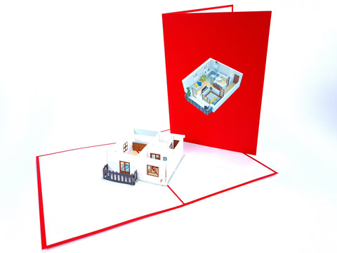new flat layout estate agency congratulation pop up card 1