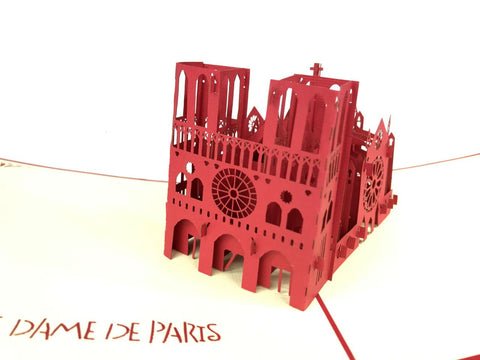 notre dame de paris 3d pop up monument card