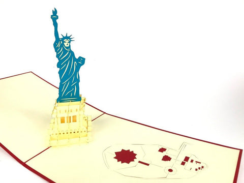 new york statue of liberty 3d pop up card
