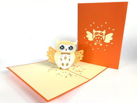 Little Owl Pop Up Card