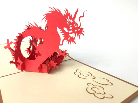 Golden Dragon Pop Up Card