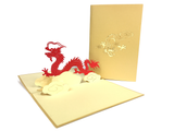 Big Red Dragon Pop Up Card
