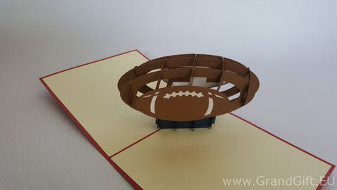 rugby ball 3d pop up sport card