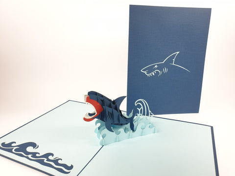 shark pop up cards