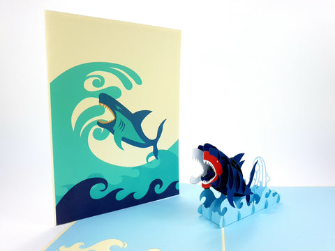 Color Shark Pop Up Card