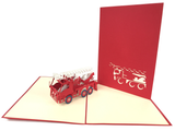 Small Fire Truck Pop Up Card